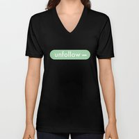 unfollow- Unisex V-Neck