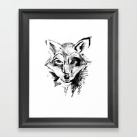 The Foxy Wolf Framed Art Print