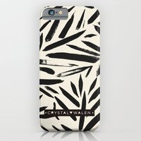 Not So Black and white leaves iPhone 6 Slim Case