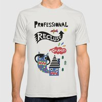 Professional Recluse Mens Fitted Tee Silver SMALL
