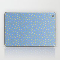 Yellow Pit On Blue /// W… Laptop & iPad Skin