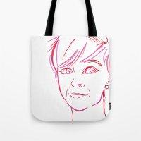 Pink Portrait Tote Bag