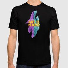 Art Is Hard - Fish Mens Fitted Tee Black SMALL