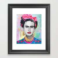 Frida Kahlo By Paola Gon… Framed Art Print