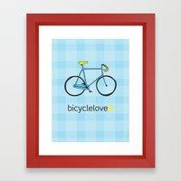 Bicyclelove, no. 2 Framed Art Print