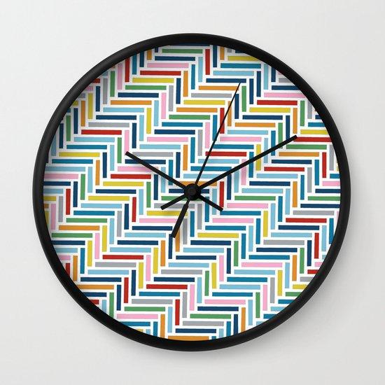 Herringbone 45 Colour Wall Clock