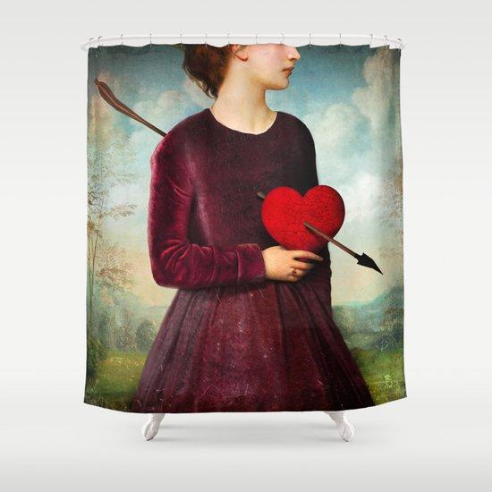 The Heartache Shower Curtain