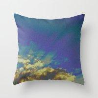 Atomic Sky Throw Pillow
