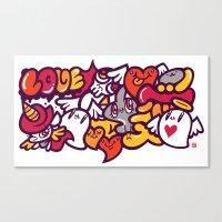 愛 - LOVE Canvas Print