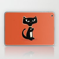 Suspiciously Cute Black Cat Laptop & iPad Skin