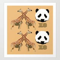 XOXO Wild Animals Art Print
