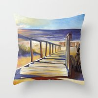 Oval Beach Throw Pillow