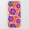 retro purple flower iPhone & iPod Case