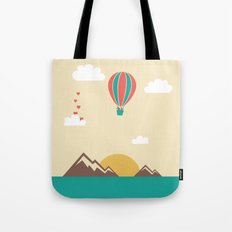 Love Balloon Tote Bag