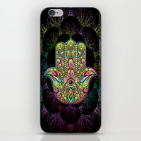 Hamsa Hand Amulet Psychedelic iPhone & iPod Skin