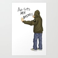 All Cops Are Bastard !!! Art Print