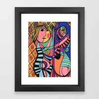 Lady in the Mirror Framed Art Print
