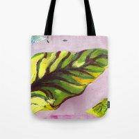 big green leaf Tote Bag