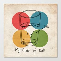 This Is My Glass Of Dali Canvas Print