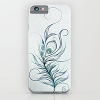 iPhone & iPod Case featuring Peacock Feather by LouJah