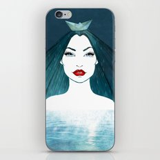 Rainy girl iPhone & iPod Skin