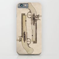 iPhone & iPod Case featuring Flintlocks by One Curious Chip