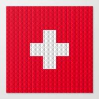 Swiss flag by Qixel Canvas Print