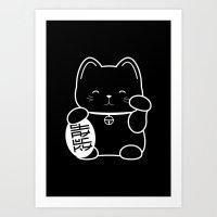 Stay Lucky BLK Art Print