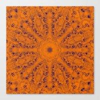 Orange and blue mandala Canvas Print