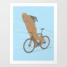 Chewbika Art Print