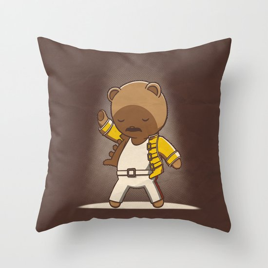 Teddy Mercury Throw Pillow
