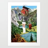 Holiday am KönigsSee 3 Collage Art Print