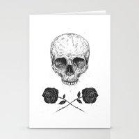 Skull N' Roses Stationery Cards