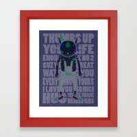 THUMBS UP YOUR LIFE Framed Art Print