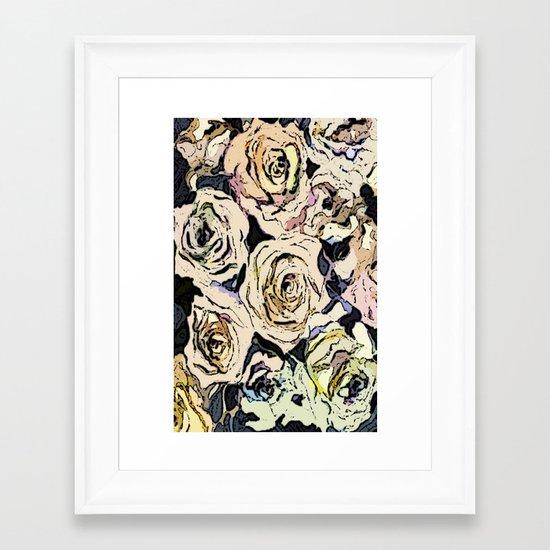 Paper Roses Framed Art Print