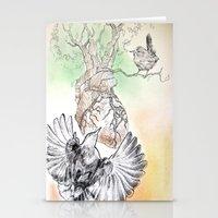 Green Bough, Singing Bird Stationery Cards