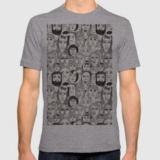 Faces in the Tube Mens Fitted Tee Athletic Grey SMALL