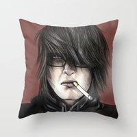 What Goes Around Throw Pillow