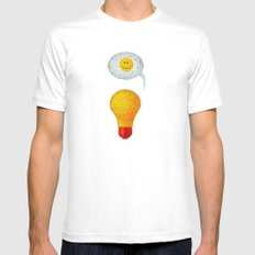 Happy Ideas!  SMALL White Mens Fitted Tee