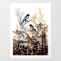 Magpies Art Print