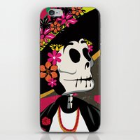 Dia de los Muertos Woman iPhone & iPod Skin