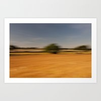 Moving Linseed Art Print