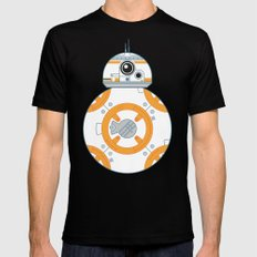 Minimal BB8 Droid Mens Fitted Tee SMALL Black