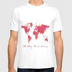 Oh, Darling SMALL White Mens Fitted Tee