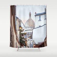 I love Montmartre, Paris. Shower Curtain