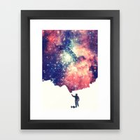Painting the universe Framed Art Print