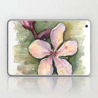 Cherry Blossom Watercolor Painting | Spring Flowers Laptop & iPad Skin