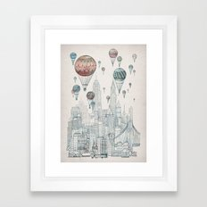 Voyages Over New York Framed Art Print