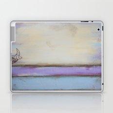 Flight II - Pastel Colors - Bird Painting Laptop & iPad Skin