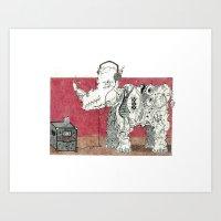 Rock Rhino Art Print